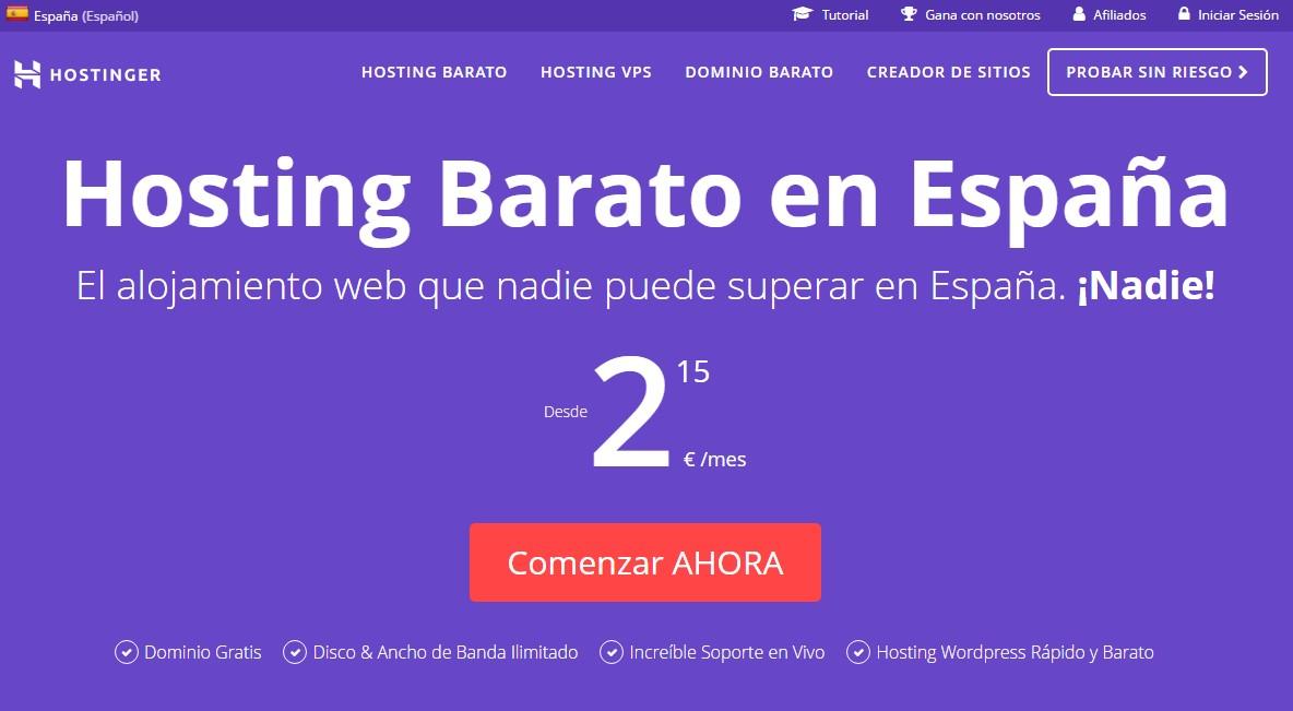 Hostinger - Nueva web