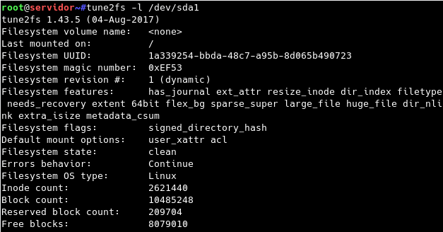 linux_tune2fs-l