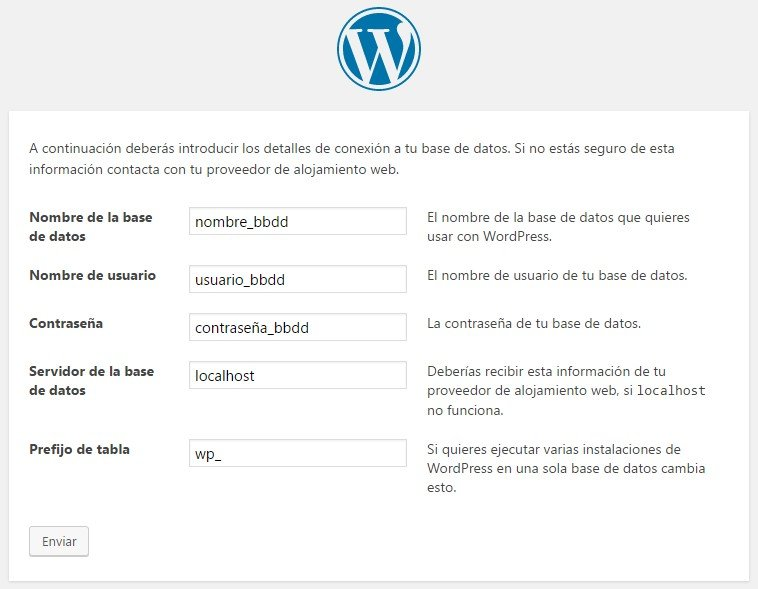 Instalacion Wordpress paso 2