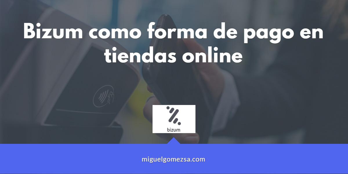 Bizum como forma de pago en tiendas online