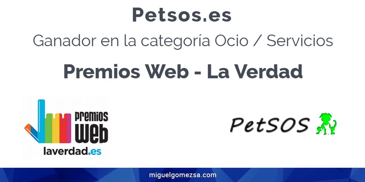 Premios Web La Verdad 2018 con petsos.es - Ganador!!