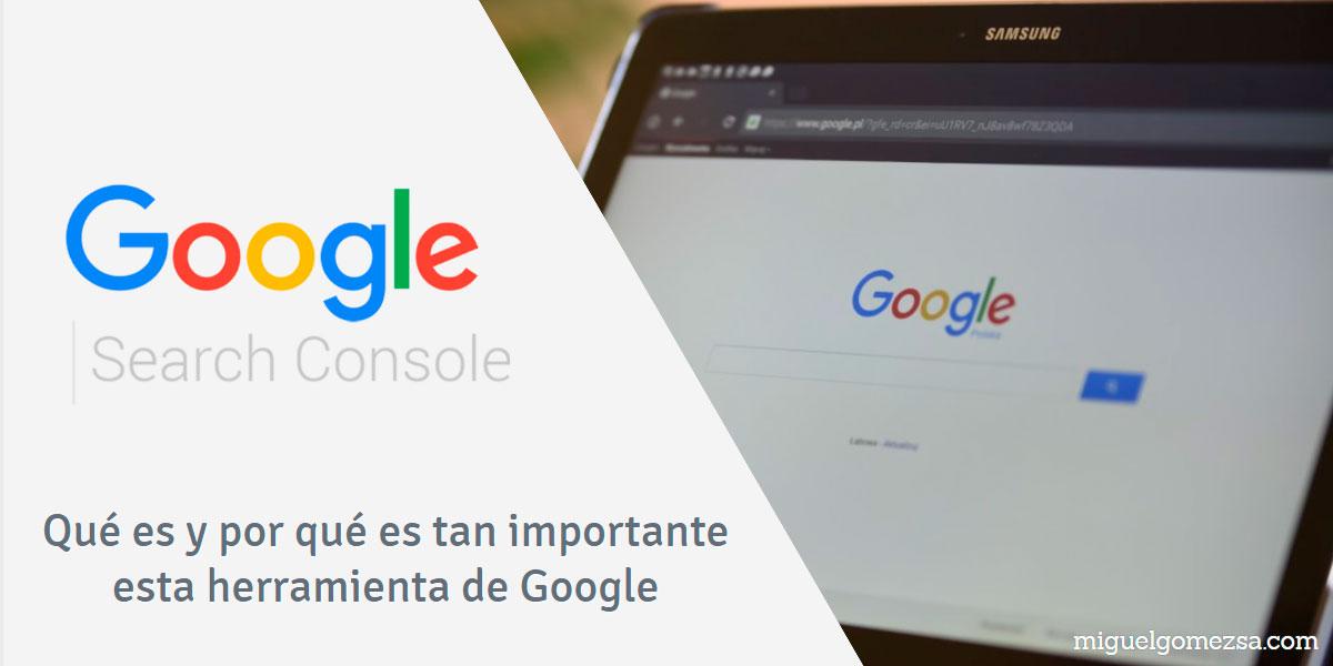 Google Search Console - Herramienta imprescindible para SEO