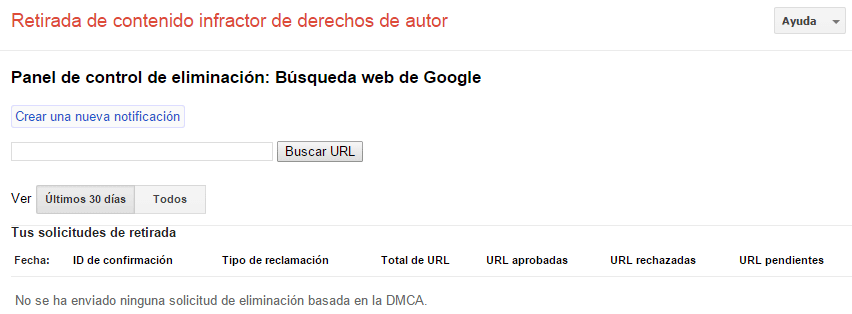 Informar de contenido con derechos de autor