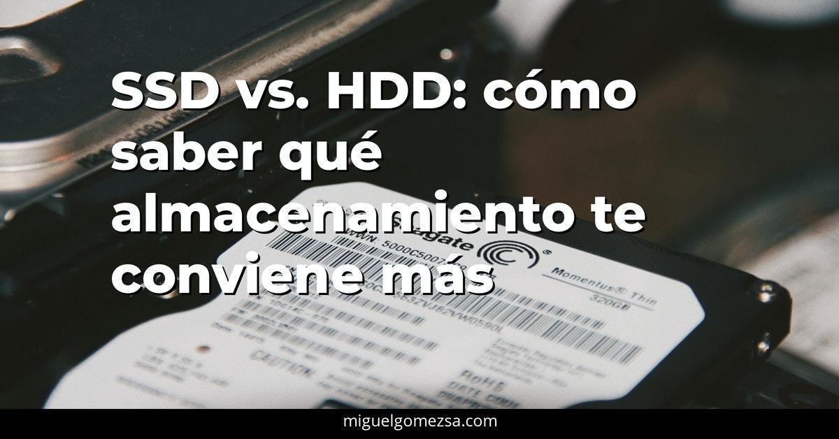 Diferencia entre HDD y SSD. Y Comparativa entre ambos discos
