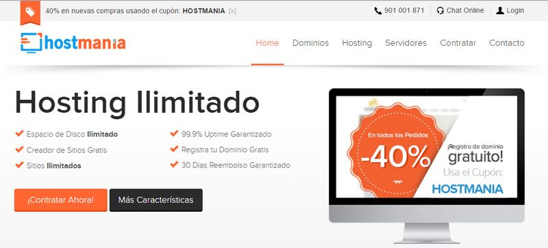 HostMania - Tu Hosting barato y alternativa Española a 1and1