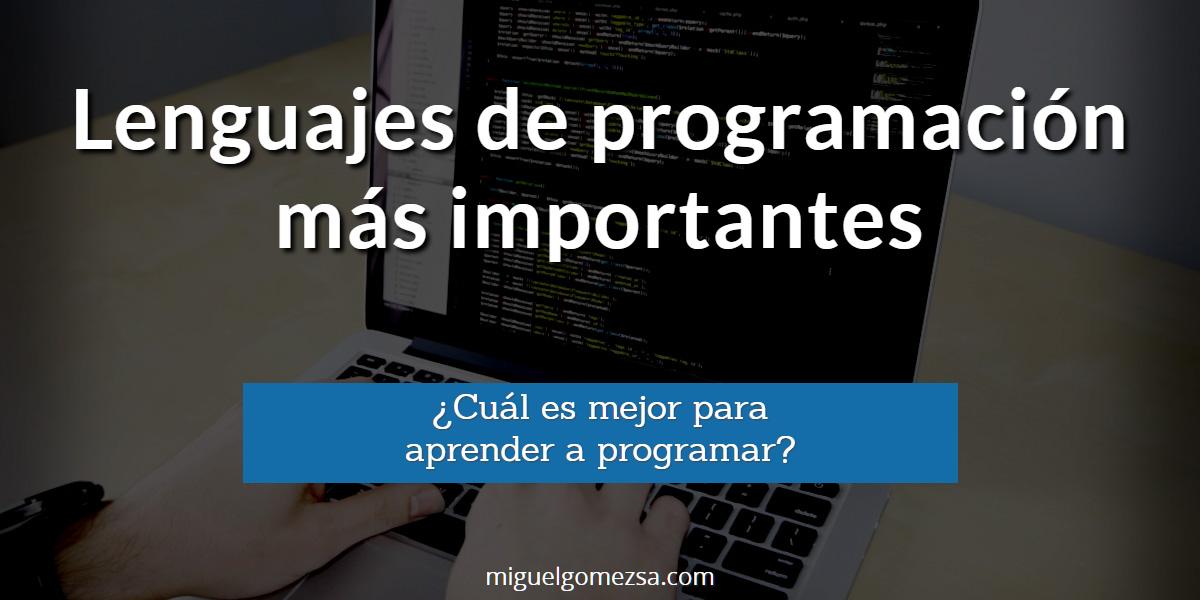 Los 20 Lenguajes de programación más importantes
