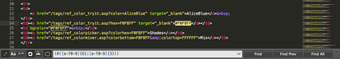 Patrones Sublime Text