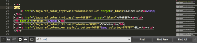 Patrones en Sublime Text