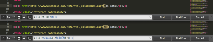 Expresiones regulares de Sublime Text
