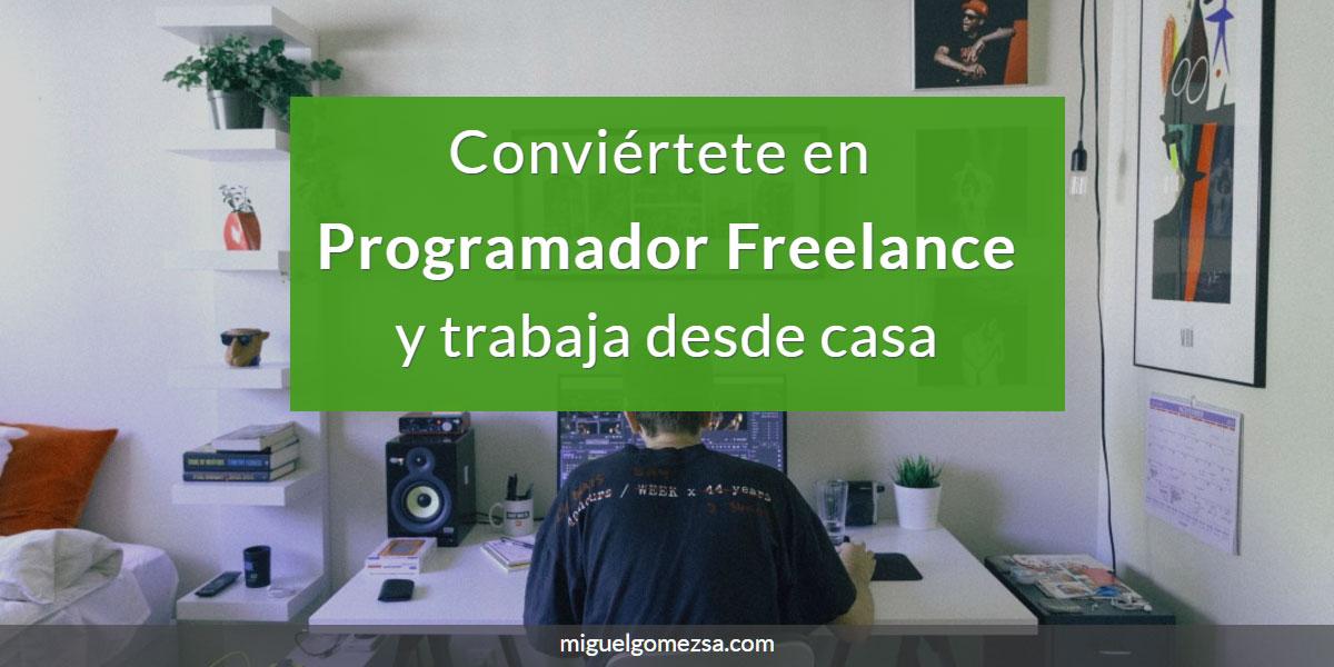 Trabaja desde casa como programador Freelance