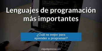 Lenguajes de programación más importantes