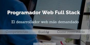 Programador PHP Full Stack - El desarrollador web más demandado