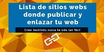 Lista de sitios web donde publicar y enlazar tu web